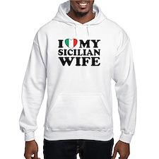 I Love My Sicilian Wife Hoodie
