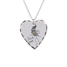 Cute Reader Necklace Heart Charm