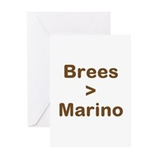 Brees Greater than Marino Greeting Card