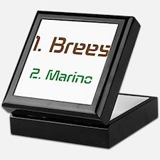 No1 brees No2 Marino Keepsake Box