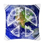 Peace on Earth Woven Throw Pillow