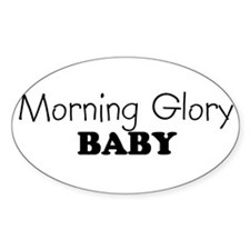 Morning Glory baby Oval Decal