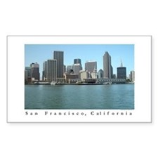 San Francisco Waterfront Gift Sticker (Rectangular
