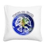 Peace on Earth II Square Canvas Pillow