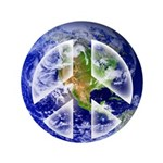 "Peace on Earth II 3.5"" Button (100 pack)"