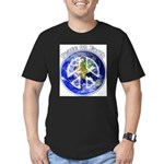 Peace on Earth II Men's Fitted T-Shirt (dark)