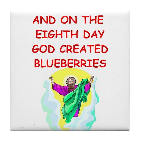 blueberries Tile Coaster