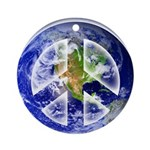 Peace on Earth II Round Ornament