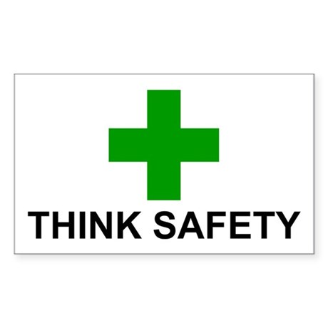 THINK SAFETY - Sticker (Rectangle)