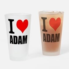 I Heart Adam Drinking Glass