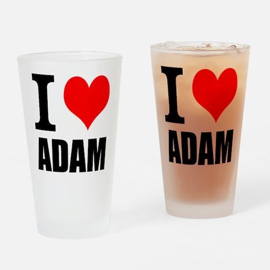I Heart Adam Drinking Glass