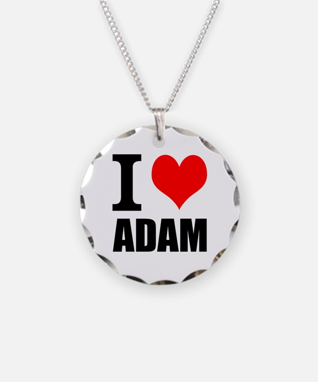I Heart Adam Necklace Circle Charm