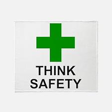 THINK SAFETY - Throw Blanket