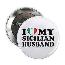 I Love My Sicilian Husband Button