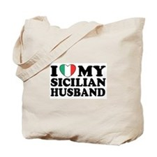 I Love My Sicilian Husband Tote Bag