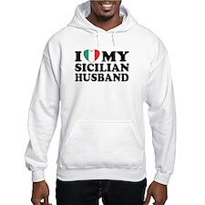 I Love My Sicilian Husband Hoodie