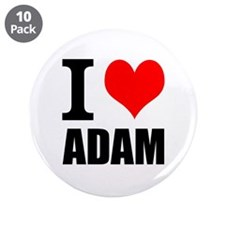 "I Heart Adam 3.5"" Button (10 pack)"