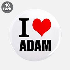 """I Heart Adam 3.5"""" Button (10 pack)"""