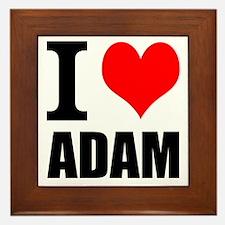 I Heart Adam Framed Tile
