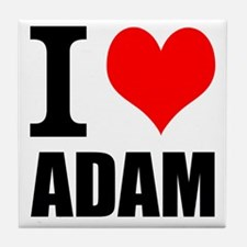 I Heart Adam Tile Coaster