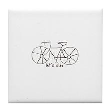 """Let's Ride"" Tile Coaster"