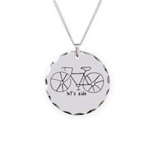 """Let's Ride"" Necklace Circle Charm"