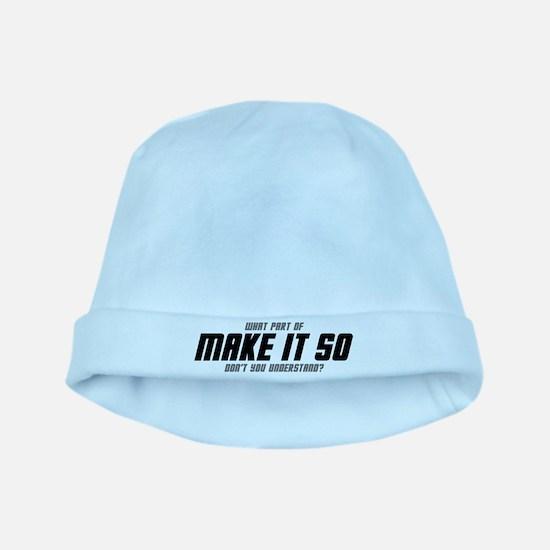 MAKE IT SO baby hat