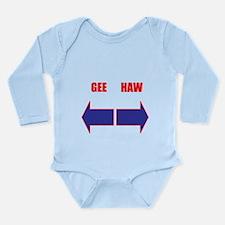 Funny Mushing Long Sleeve Infant Bodysuit