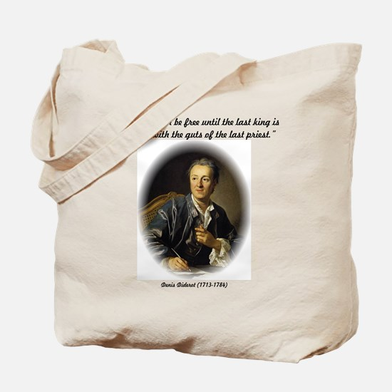 Diderot-Man Will Never Be Fre Tote Bag