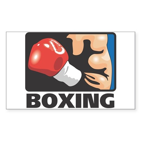 Boxing Rectangle Sticker