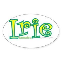 Jamaica Irie Oval Decal