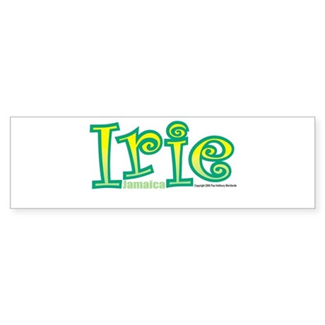 Jamaica Irie Bumper Sticker