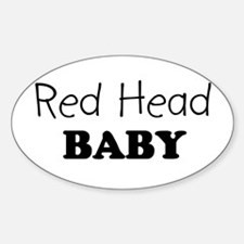 Red Head baby Oval Decal