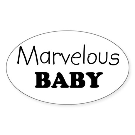 Marvelous baby Oval Sticker