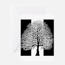 Oak Tree, Two Tone, Greeting Card