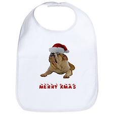 Bulldog Christmas Bib