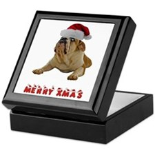 Bulldog Christmas Keepsake Box