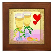 Wedding Toast Framed Tile