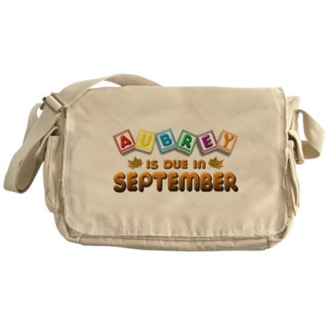 Aubrey is Due in September Messenger Bag