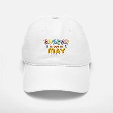 Aubrey is Due in May Baseball Baseball Cap