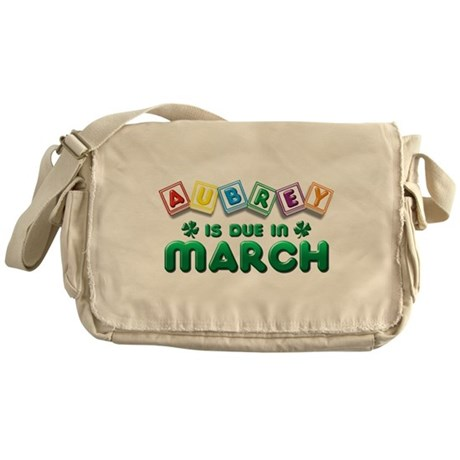 Aubrey is Due in March Messenger Bag