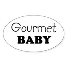 Gourmet baby Oval Decal
