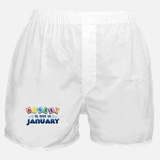 Aubrey is Due in January Boxer Shorts