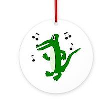 Rocking Crocodile Ornament (Round)