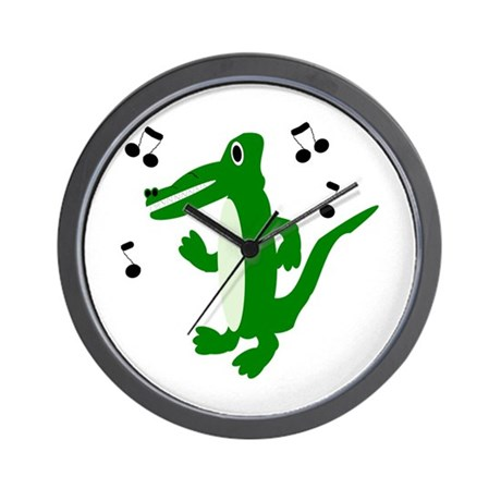 Rocking Crocodile Wall Clock