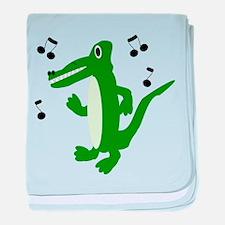 Rocking Crocodile baby blanket