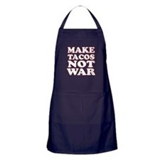 Make Tacos Not War Apron (dark)