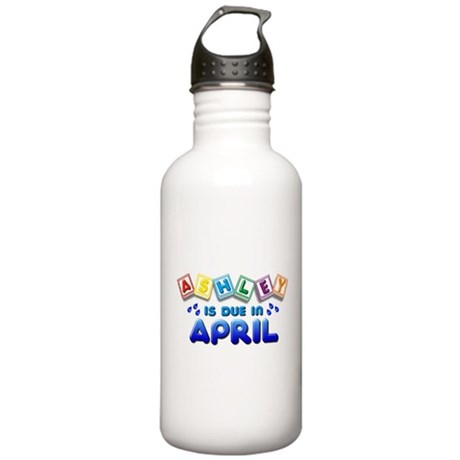 Ashley is Due in April Stainless Water Bottle 1.0L