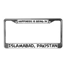 Happiness is Islamabad License Plate Frame
