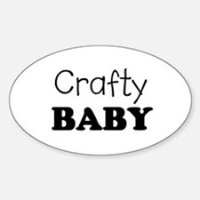 Crafty baby Oval Decal